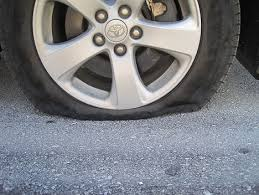 flat tire. Plain Flat Driving  Throughout Flat Tire