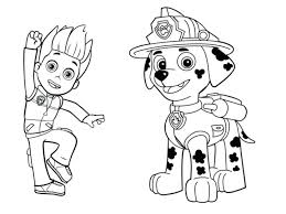 Coloring Sheet Paw Patrol Interactive Christmas Coloring Pages