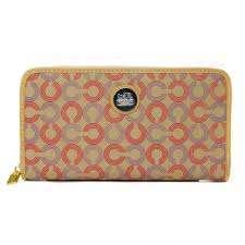 Coach Op Art Large Yellow Wallets DVY