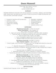 Warehouse Worker Resume Objective Best of Resume Objective Examples For Warehouse Worker Universitypress