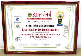 gurukul awards by lions club international best jewellery designing insute 2018