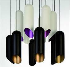 simple aluminum tubular aluminum chandelier downlight dining room den lamps creative personality tom dixon pipe pendant lights large pendant light vintage