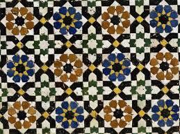 mosaic tilework zaouia moulay idriss an islamic shrine fes el bali fes morocco mosaic tile work a67 work
