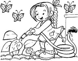 Small Picture Spring Coloring Sheets Scene Of Spring Coloring Page Picnic
