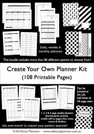 The Create Your Own Planner Kit 108 Printable Pages To