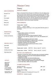 Nanny Resume Skills Impressive Nanny Resume Sample Resume Profile Examples Nanny Resume Example