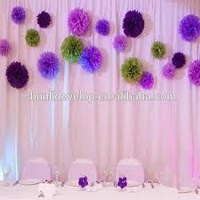 Make Tissue Paper Flower Balls Diy Wedding Stage Backdrop Decor Tissue Paper Flower Balls Buy