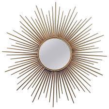 large french y vallauris gilt sunburst starburst wall mirror 1950s for