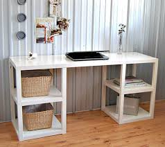 ikea small office. Ikea Office Furniture Design Glamorous Appealing Small Desk Engineered Wood Construction White Finish 4 Shelf Bookcase Wicker Book Basket Light .
