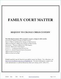 Child Custody Letter Sample Sample Declaration Letter For Child Custody In California Of