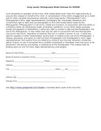 Image Release Form Template Australia Photography Consent Model ...