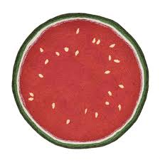 woodside summer fruit red 3 ft round indoor outdoor area rug