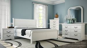 distressed white bedroom furniture leather high frame queen and twin nightstands wooden laminate flooring cotton bedding