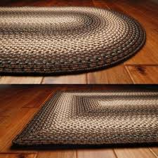 brown and black country braided rug 20x30 to 8x10 oval rectangle
