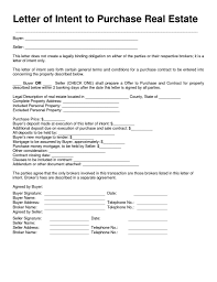 Letterf Intent To Purchase Real Estate Template Pdf Word