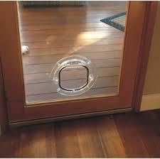 standard cat door for glass