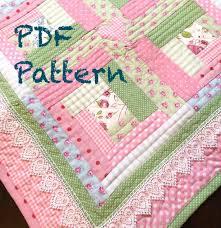 Baby Quilt Designs Chic Baby Girl Quilt Pattern Log Cabin Quilt Pattern Modern Etsy