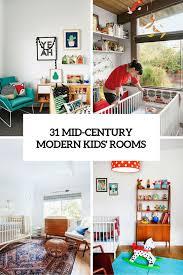 mid century modern kids bedroom. 31 Mid Century Modern Kids Rooms Cover Bedroom DigsDigs
