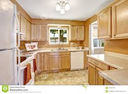 Small Picture New Kitchen Cabinets With White Appliances Stock Photo Image