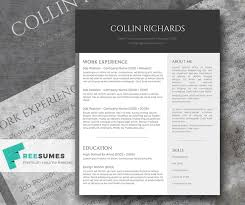 Plain Resume Templates Plain But Trendy The Free Modern Resume Template Freesumes