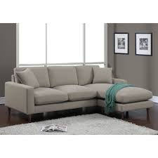 sectional sleeper sofa fabric.  Fabric Light Gray Linen Fabric Sectional Sleeper Sofa With Track Armrest And  Natural Wooden Round Tapered Legs For