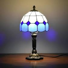 glass lamp shades for table lamps table lamps accent 8 inches desk blue original antique glass