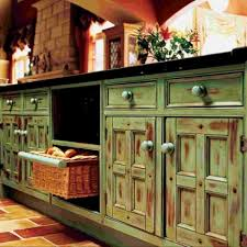 Stylish Kitchen Cabinets Green Distressed Kitchen Cabinets Stylish Kitchen With Distressed In