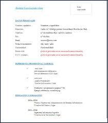 Ejemplo De Curriculum Vitae En Word Modelo De Curriculum Vitae Simple En Word Courtnews Info