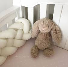 home accessory crib per braid knotted pillow knot cushion knotted cushion nursery nursery decor stuffy bunny