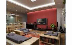 Tv Decorating Ideas Luxurious Living Room Design With Tv On The Wall Ideas Finished