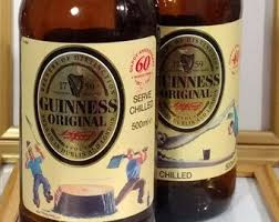 guinness 1997 stout bottles 40th and 60th anniversary of john gilroy s artwork gift ideas
