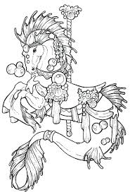 Printable Coloring Pages horse coloring pages to print for free : Free Printable Horse Coloring Pages For Adults Advanced Carousel ...