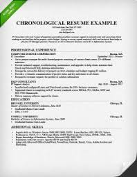 chronological resume format example how should my resume be formatted