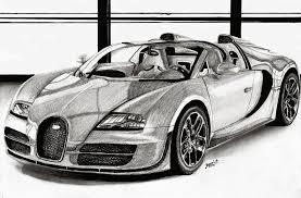 Es un dibujo de una perspectiva baja, con bastantes detalles como para tener un buen ejemplo de dibujo de coche deportivo. Titulo Bugatti Veyron Dibujos A Lapiz Y Carboncillo Facebook