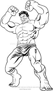 Disegno Di Hulk Con Le Braccia Alzate Da Colorare