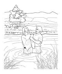 Rare baptism coloring pages printables john the baptist printable #2623001. John Baptizing Jesus Coloring Page