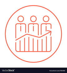 Businessmen Standing On Profit Graph Line Icon Vector Image On Vectorstock