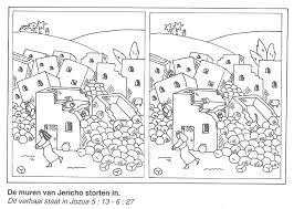 De Muren Van Jericho Storten In Zoek De 10 Verschillen Jozua As