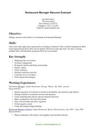 Examples Of Special Skills For Resume Simple Special Skills For Restaurant Resume Food Service Skills List 27