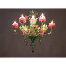 italian flower chandelier circa from 1990