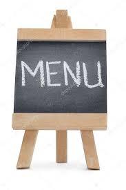 The Word Menu Chalkboard With The Word Menu Written On It Stock Photo