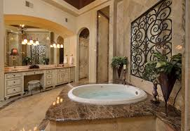 wrought iron window decor Bathroom Mediterranean with arch arched