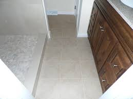 bathroom remodel with tile shower and pebble floor in mechanicsburg pa