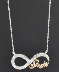 details about diamond infinity pendant 10k white rose gold 0 10 ct smile charm necklace