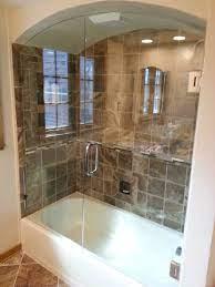 custom glass shower doors glass tub
