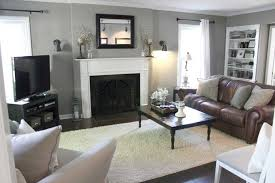 brown couch grey walls ideas including charming carpet with chair