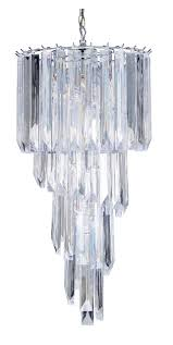 acrylic prism cascade chandelier oaks lighting