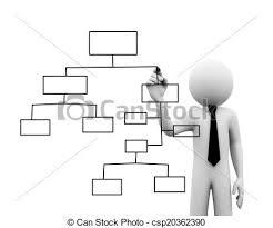 Org Chart Graphic 3d Businessman Drawing Organizational Chart On Touch Screen