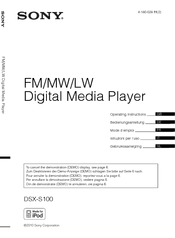 sony dsx s100 manuals manuals and user guides for sony dsx s100 we have 6 sony dsx s100 manuals available for pdf operating instructions manual