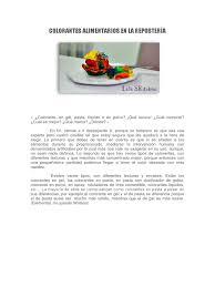 Colorantes Alimentarios En La Reposter A